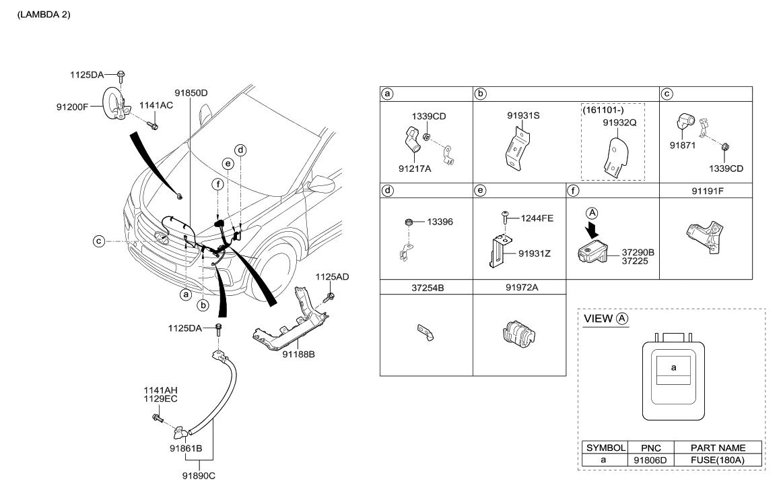 91971 2w110 Genuine Hyundai Protector Wiring Diagram Santa Fe 2016 Korean Made Miscellaneous