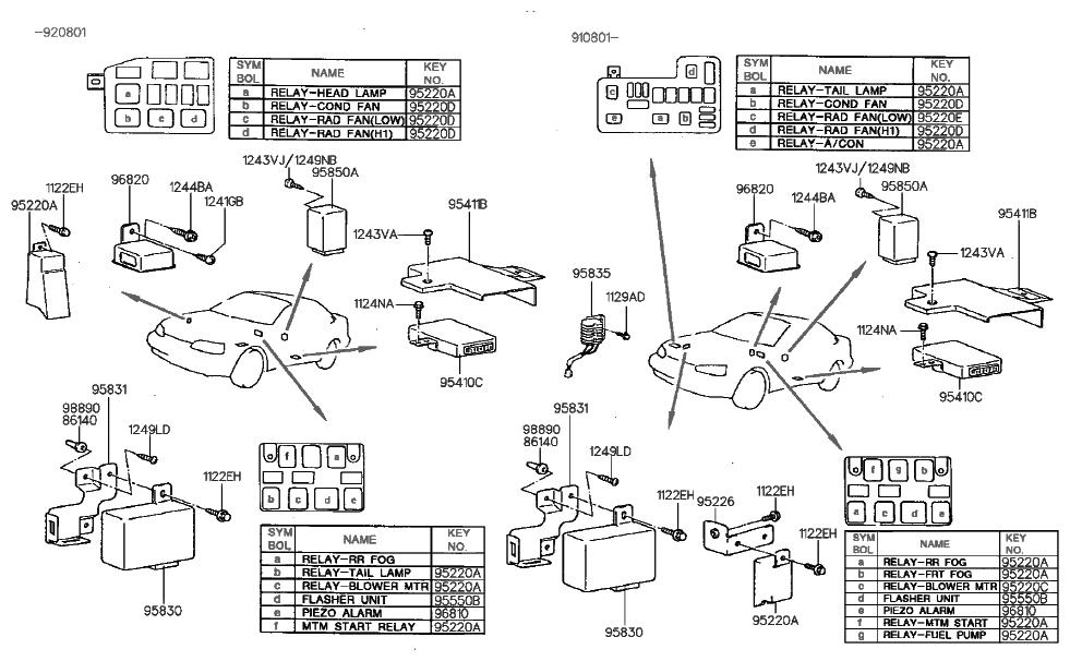 1993 hyundai scoupe relay module hyundai parts deal rh hyundaipartsdeal com