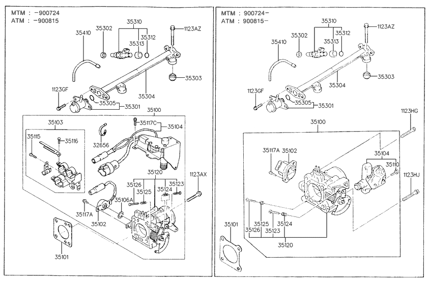 1993 HYUNDAI EXCEL OWNERS MANUA - Auto Electrical Wiring ...