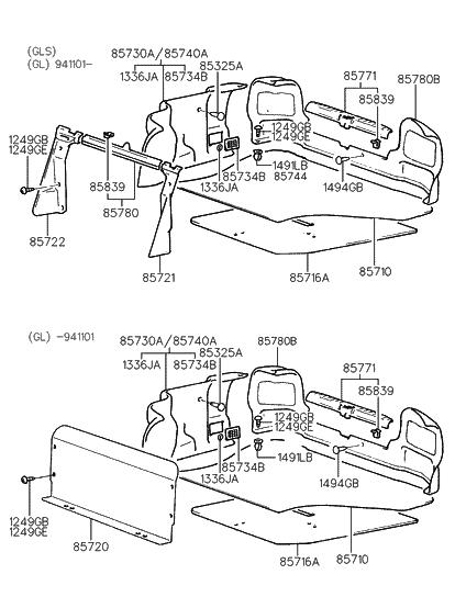 85750 34610 Fg Genuine Hyundai Trim Assembly Luggage Rear