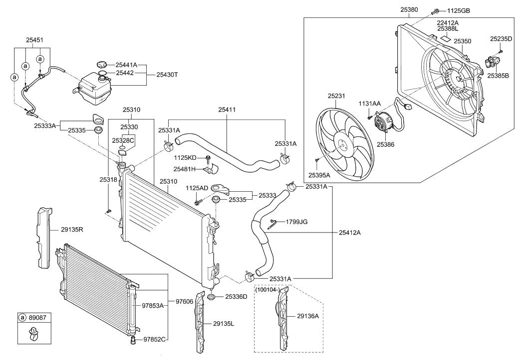25411 2s100 genuine hyundai hose radiator upper rh hyundaipartsdeal com 2005 hyundai tucson engine diagram 2005 hyundai tucson engine diagram