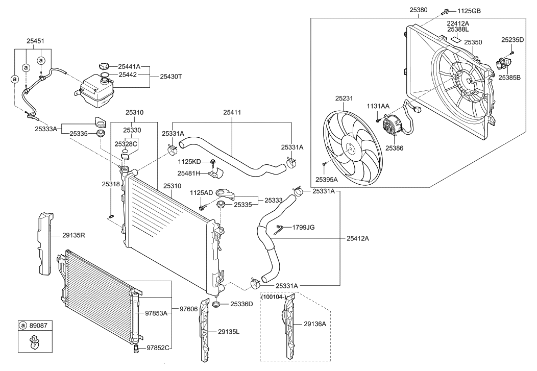 2013 Hyundai Tucson Engine Cooling System - Hyundai Parts Deal on