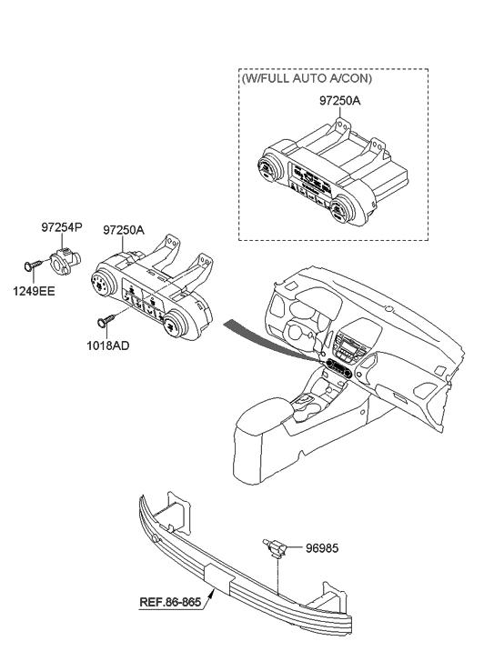 2013 Hyundai Tucson Heater System-Heater Control