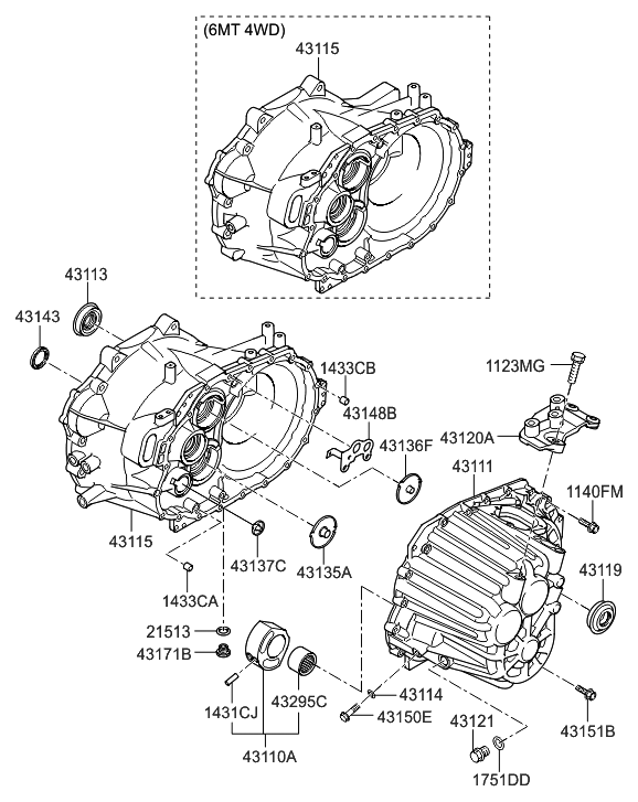 2012 hyundai tucson transaxle case manual hyundai parts deal rh hyundaipartsdeal com hyundai tucson parts list hyundai tucson parts list