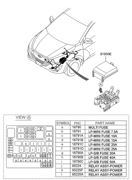 91941 2s022 Genuine Hyundai Upper Cover Engine Room Box