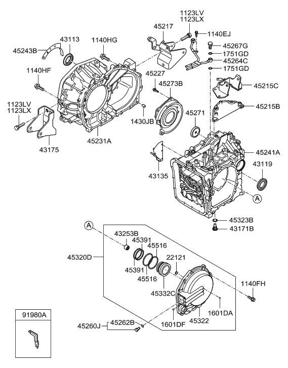 2007 hyundai sonata old body style auto transmission case  product catalog & price list