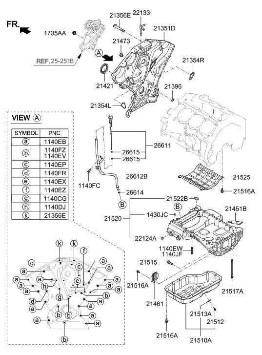 21520 3c702 genuine hyundai pan assembly engine oil upper. Black Bedroom Furniture Sets. Home Design Ideas
