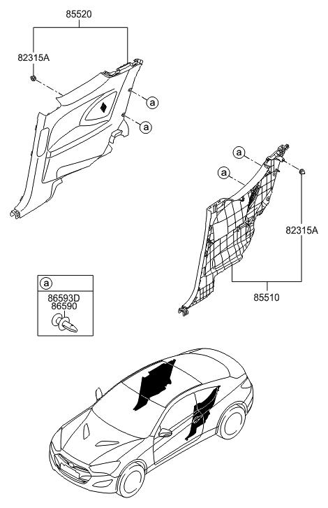 2013 Hyundai Genesis Coupe Quarter Trim Hyundai Parts Deal