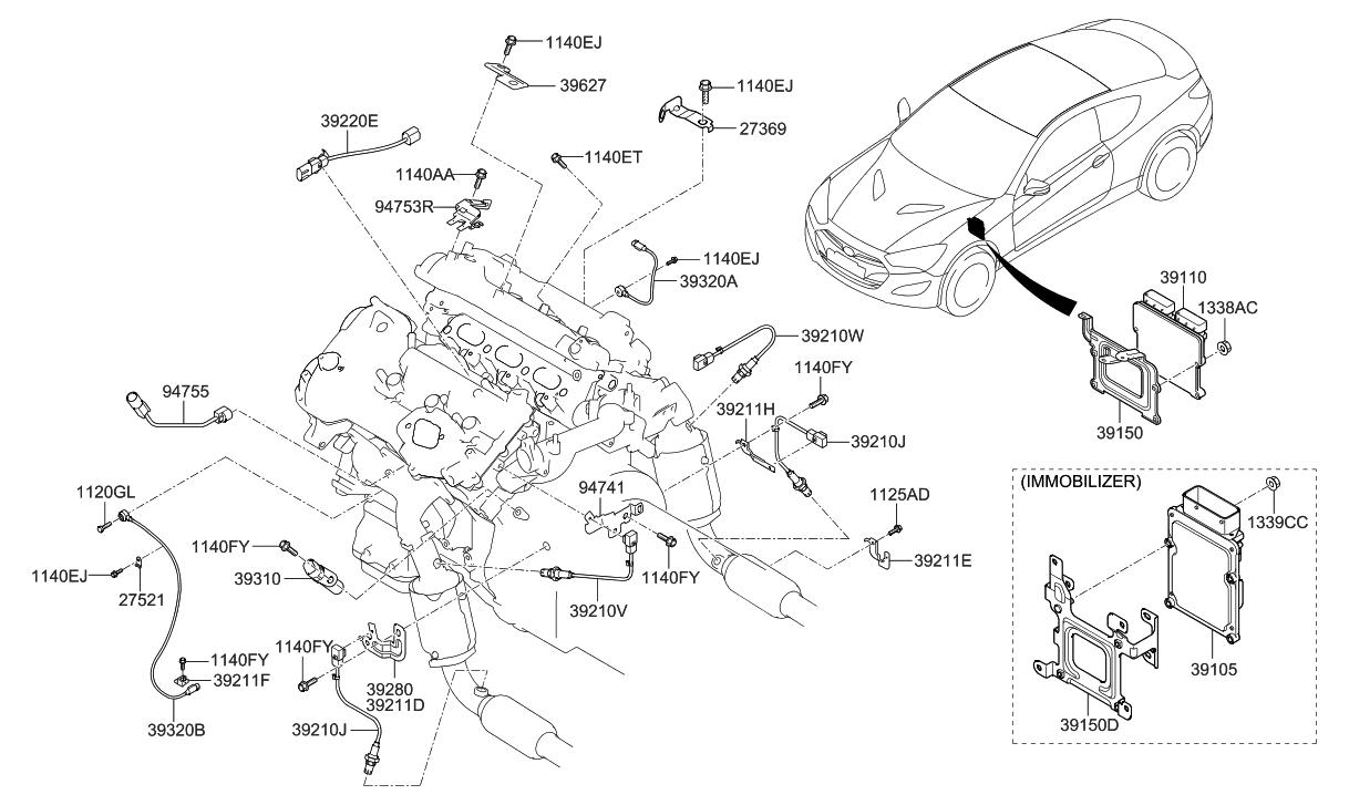 2013 Hyundai Genesis Coupe Electronic Control