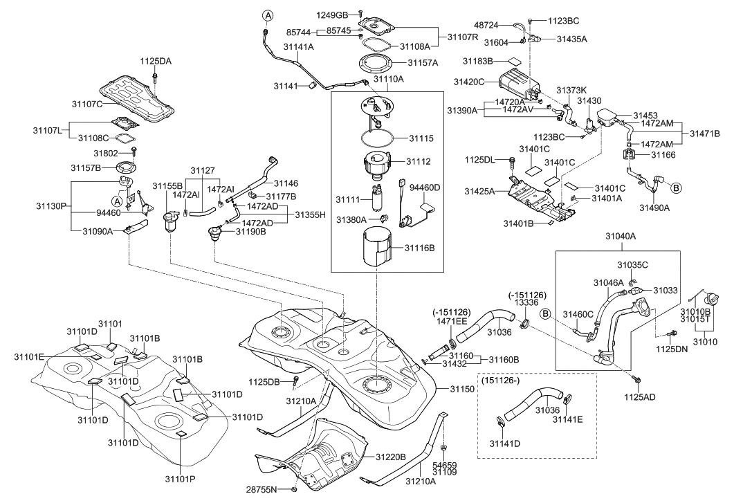 31380-3Q550 - Genuine Hyundai REGULATOR-FUEL PRESSURE