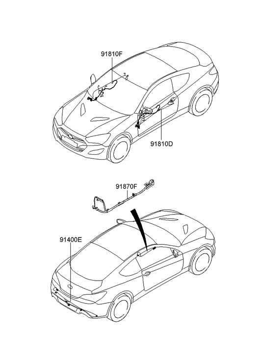 2013 Hyundai Genesis Coupe Miscellaneous Wiring