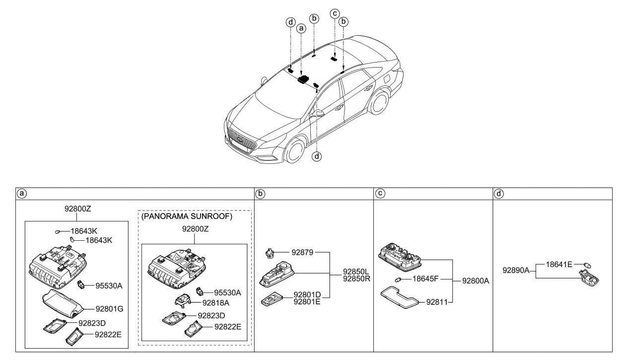 2016 Hyundai Sonata Hybrid Room Lamp Hyundai Parts Deal