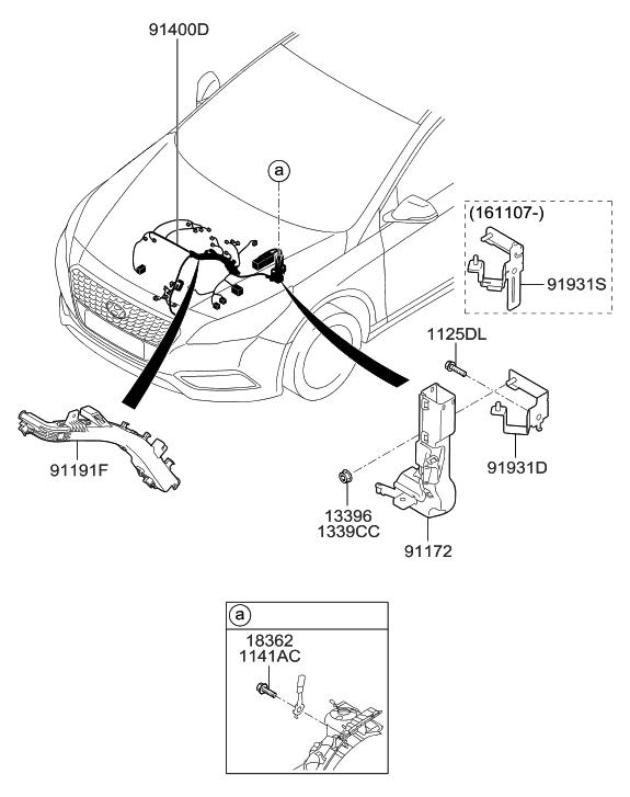 2016 Hyundai Sonata Hybrid Control Wiring