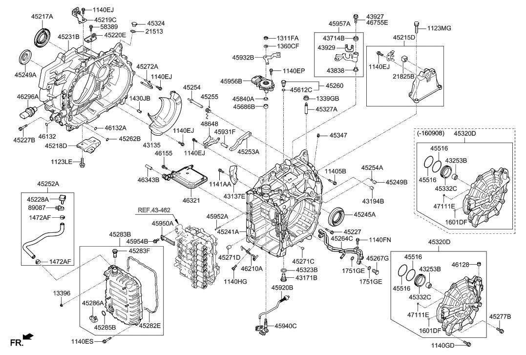2016 Hyundai Sonata Hybrid Auto Transmission Case