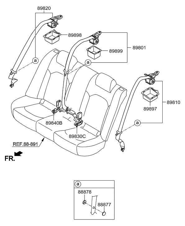 89840 c1060 ppb genuine hyundai parts rh hyundaipartsdeal com hyundai accent seat belt replacement hyundai seat belt replacement