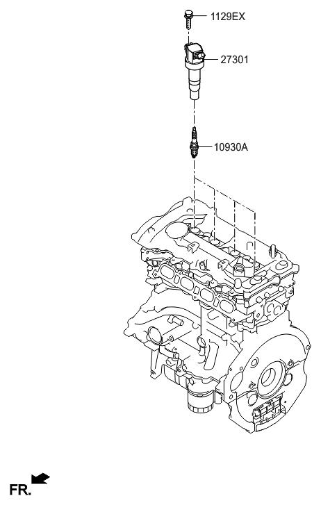 2016 Hyundai Sonata Hybrid Spark Plug & Cable