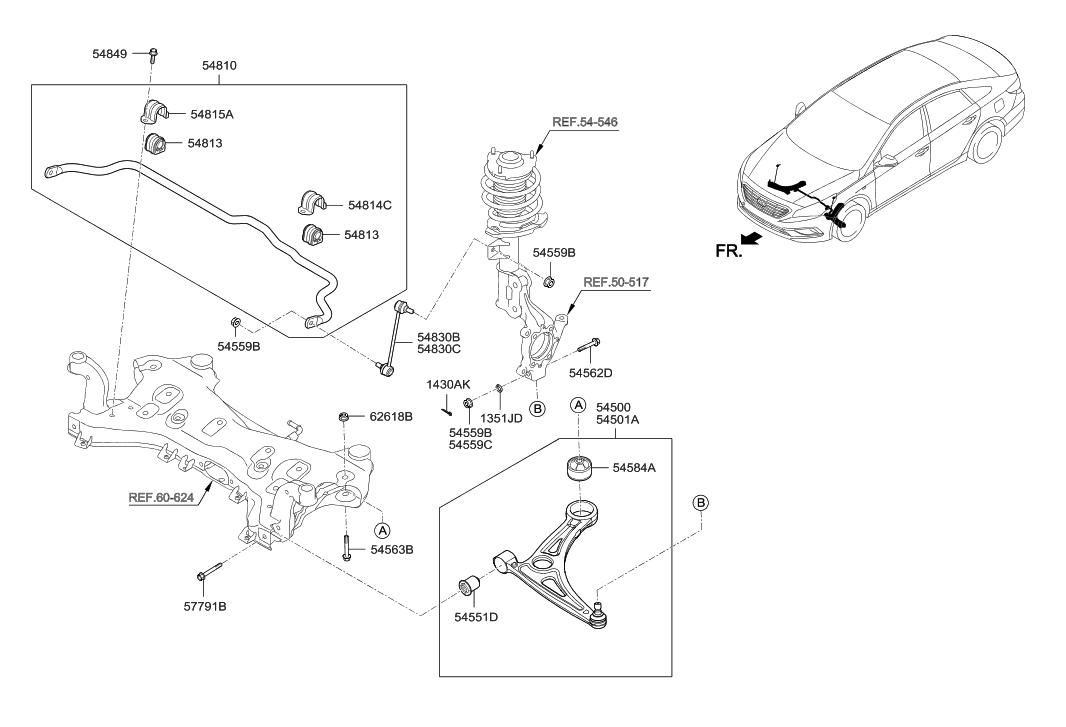 2016 hyundai sonata hybrid front suspension control arm