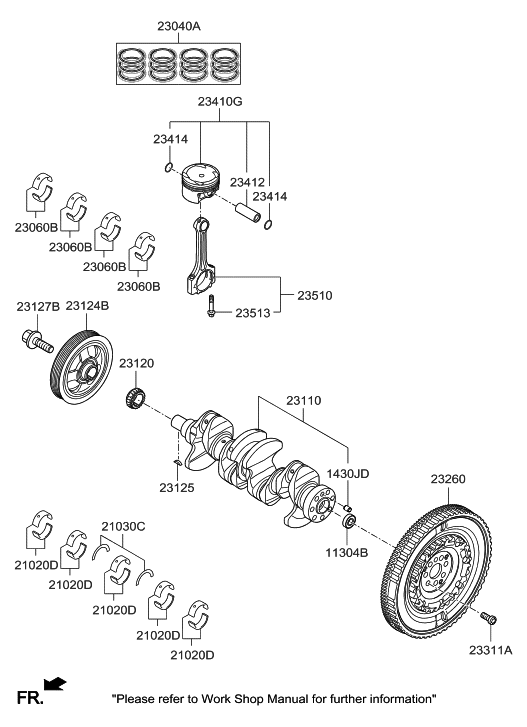 23200 03950 Genuine Hyundai Flywheel Dual Mass