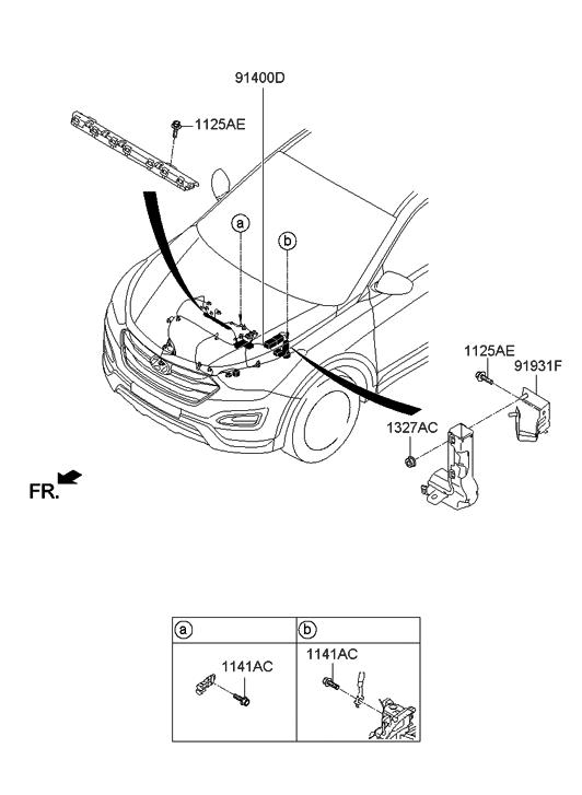 2013 Hyundai Santa Fe Sport Control Wiring