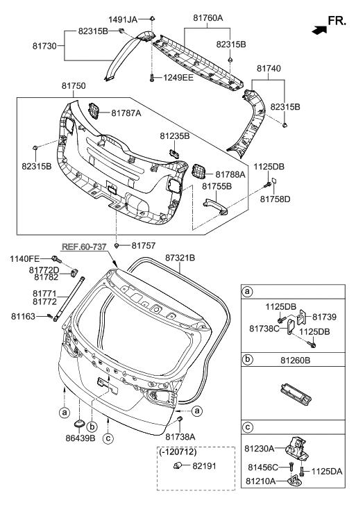 81230 2w000 genuine hyundai latch assembly tail gate rh hyundaipartsdeal com F150 Tailgate Parts Bronco Tailgate Parts