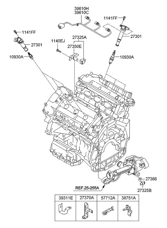 2012 hyundai genesis spark plug cable hyundai parts deal rh hyundaipartsdeal com Azera Engine Diagram Diagram of Noah's Ark