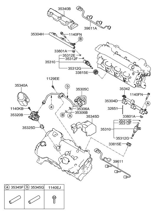2012 hyundai genesis throttle body & injector - thumbnail 1