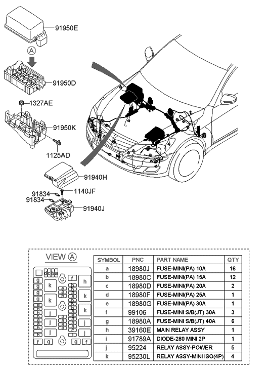 91940 3m210 Genuine Hyundai Upper Cover Joint Box