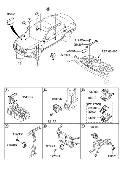 96010 3m000 genuine hyundai cover rain sensor tpms sensor diagram honda vti 2004 knock sensor diagram #7
