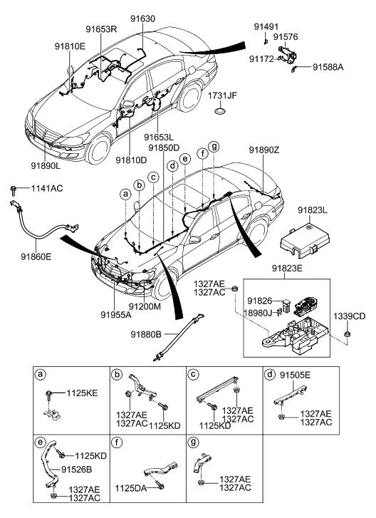 2013 Hyundai Genesis Coupe Parts Diagrams
