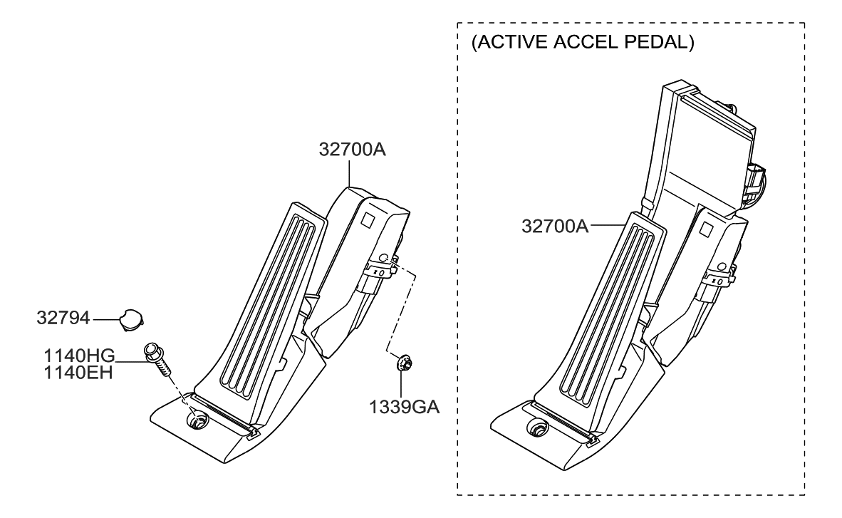 2008 Hyundai Genesis Accelerator Pedal Parts Deal Engine Diagram Thumbnail 1