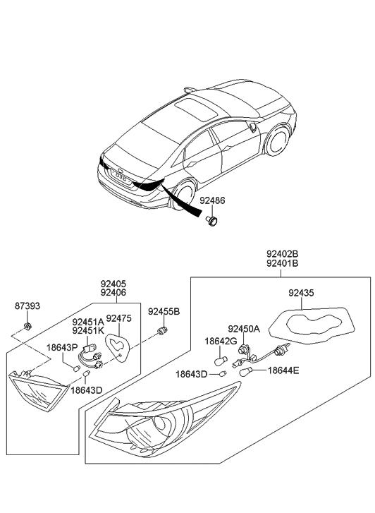 92450-3Q000 - Genuine Hyundai Parts