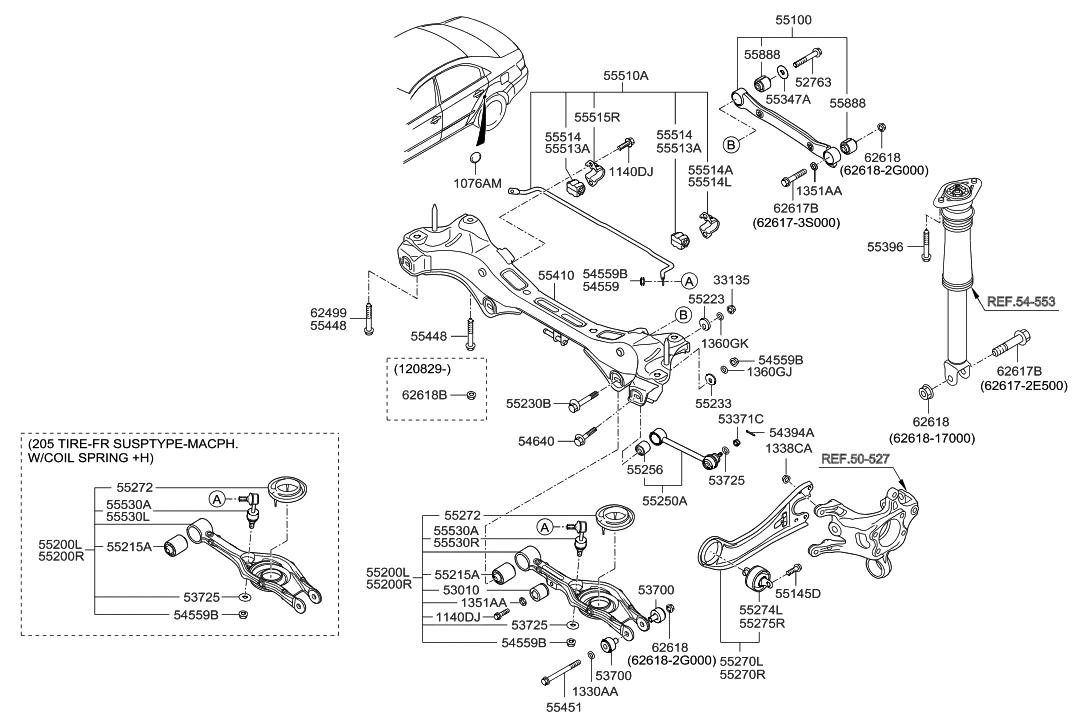 2006 Hyundai Sonata Rear Suspension Diagram
