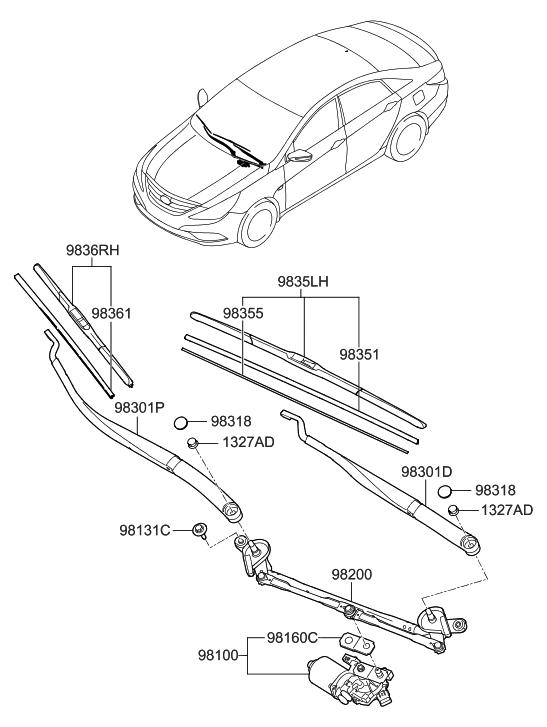 2013 hyundai sonata windshield wiper