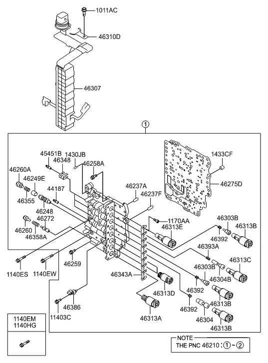 2012 Hyundai Sonata Body Parts Diagram