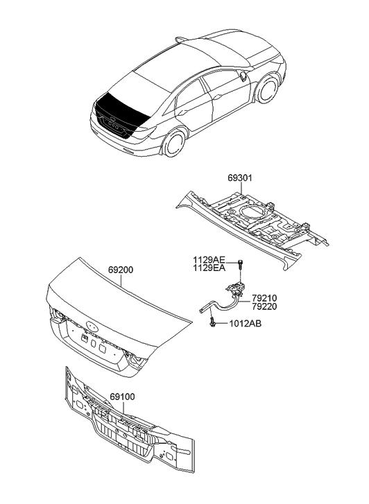 2011 Hyundai Sonata Back Panel Amp Trunk Lid Hyundai Parts