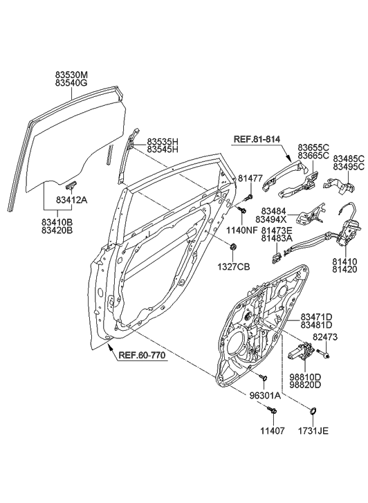 83460 3q001 Genuine Hyundai Parts