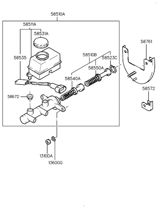 1996 hyundai accent brake master cylinder