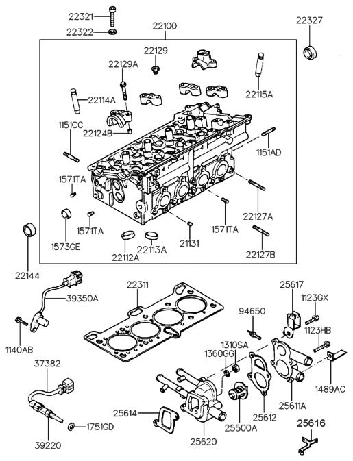 Genuine Hyundai 22112-26902 Intake Valve Seat