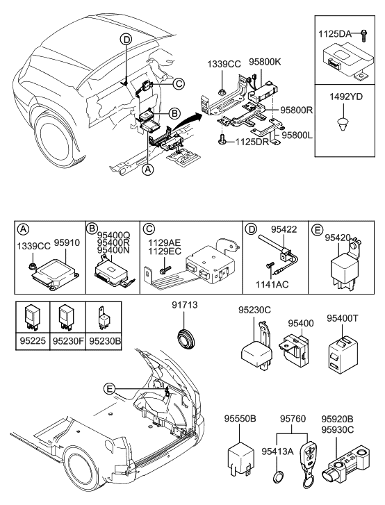 2007 Hyundai Tucson Relay & Module - Hyundai Parts Deal