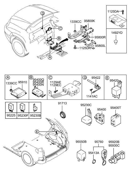 [SCHEMATICS_4FR]  2007 Hyundai Tucson Relay & Module - Hyundai Parts Deal | 2007 Hyundai Tucson Engine Diagram |  | Genuine Hyundai Parts