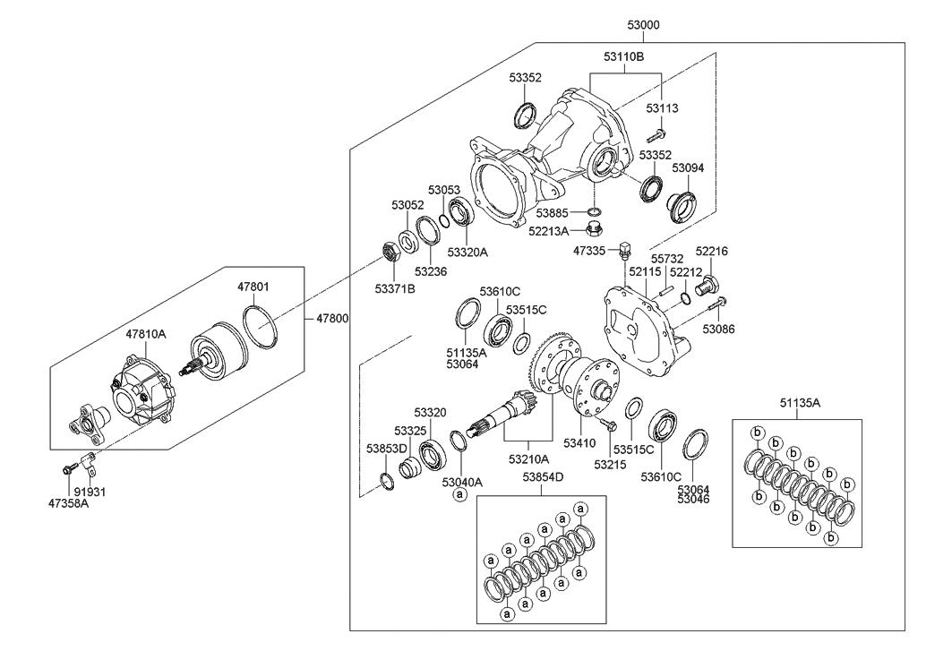 Genuine Hyundai 53064-39525 Differential Bearing Spacer