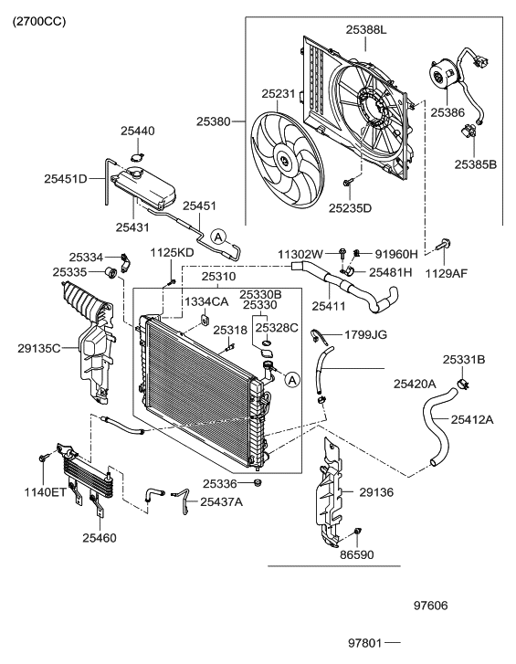 25420 2e620 genuine hyundai parts 2013 sonata engine diagrams 2007 hyundai tucson engine cooling system