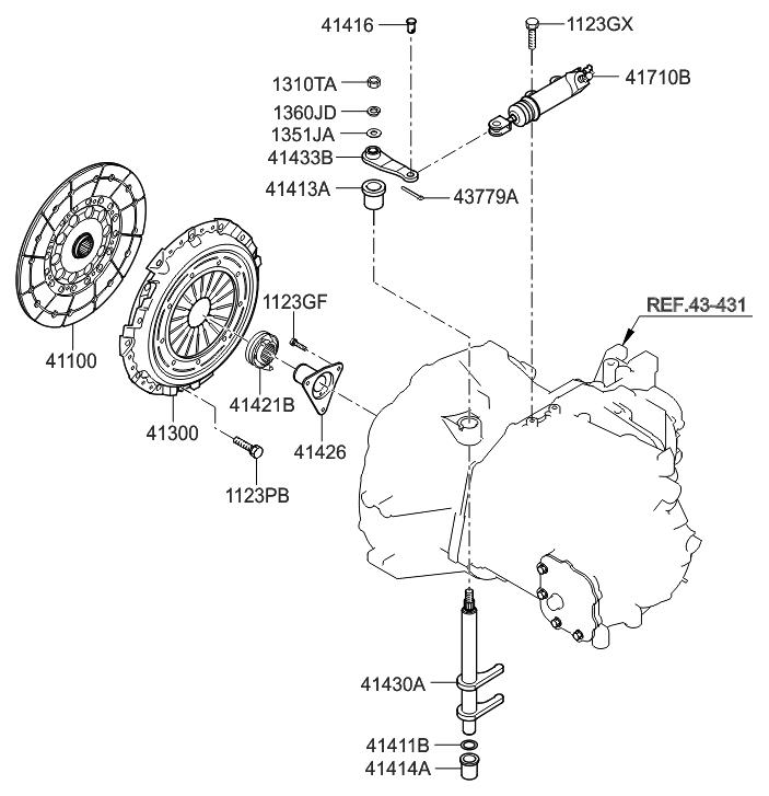 41100 39266 genuine hyundai disc assembly clutch rh hyundaipartsdeal com