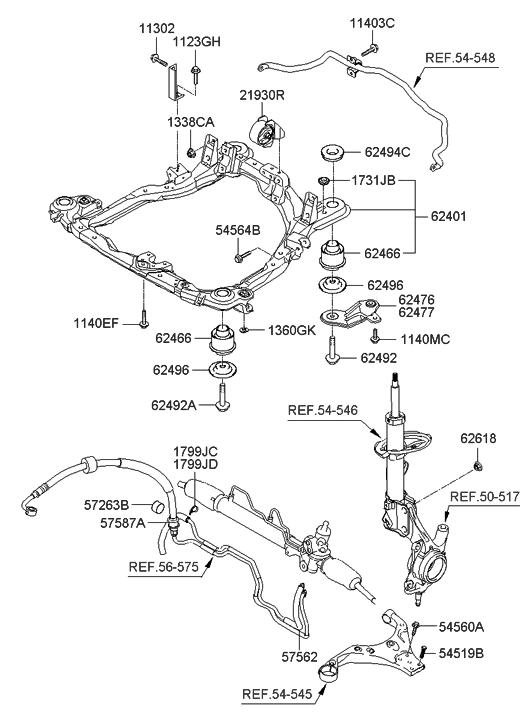 toyota supra front end diagram 2005 hyundai tucson front end diagram 62486-2e000 - genuine hyundai bushing-crossmember mounting #10