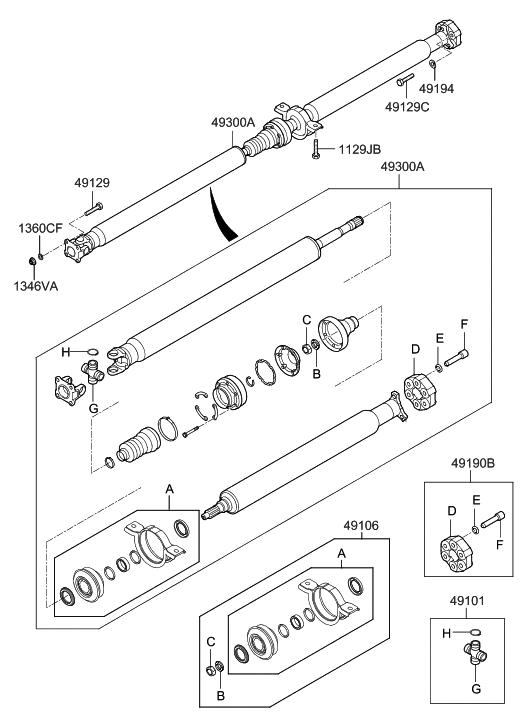 2007 Hyundai Tucson Propeller Shaft - Hyundai Parts Deal