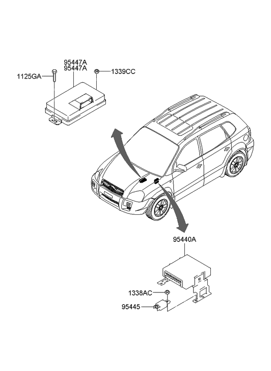 2007 Hyundai Entourage Fan Control Module