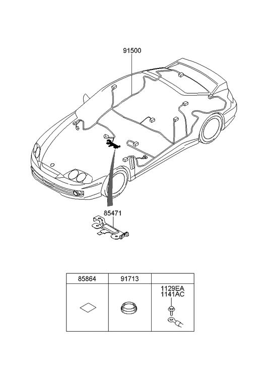 2008 Hyundai Tiburon Floor Wiring Hyundai Parts Deal