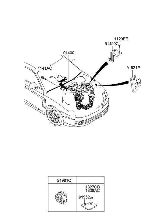 2008 Hyundai Tiburon Control Wiring - Hyundai Parts Deal