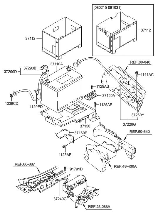 2006 Hyundai Tiburon New Body Style Battery