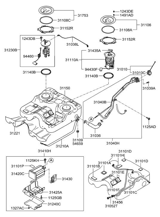Genuine Hyundai 31010-2D600 Fuel Filler Cap
